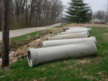 Drainage pipes for front ditch