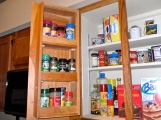 Spice racks inside doors