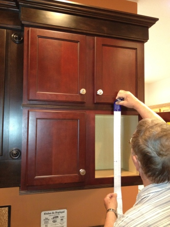 Checking out cabinets