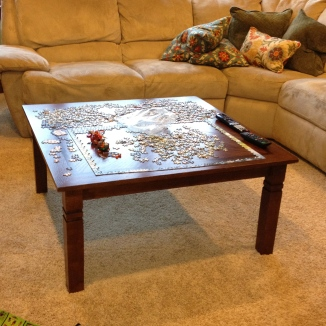Coffee table for puzzles or Legos