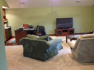 The apartment family room
