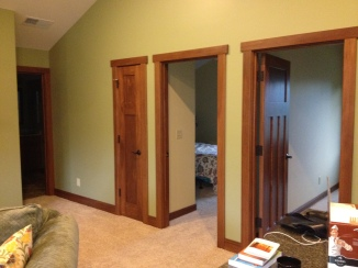 Doorways to two bedrooms