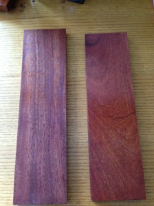 Tinted Danish Oil on Mahogany