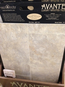 Luxury grouted vinyl tile