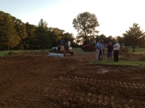 The engineers discussing the excavation job