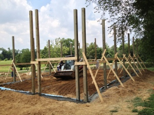 First day poles up