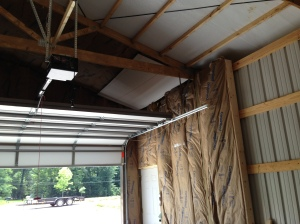 Area around garage doors and man door insulated (including the ceiling area)