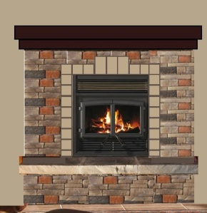Fireplace with border