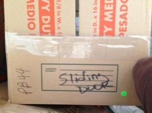 Sliding door box