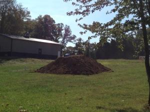 Top soil for final grading