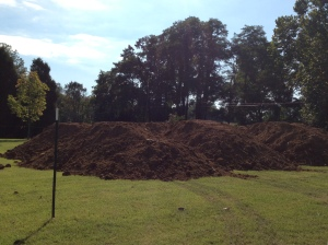 Soil for covering the septic area
