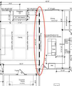 Beam on floor plan