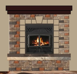 Fireplace design with new grate