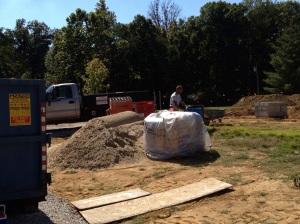 Mortar sand and concrete