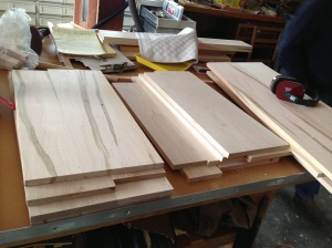 Wood for cabinet drawers