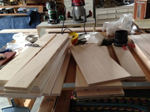 More wood for drawers