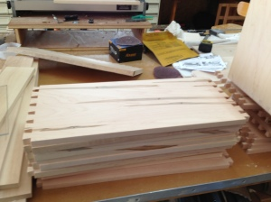 Cabinet drawers dovetailed