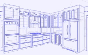 Layout of cabinets