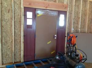 Front Door Interior View (still has cardboard on it to protect it)