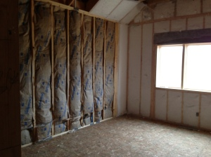 Sound barrier between the master bedroom and master bathroom