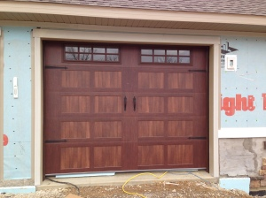 Trim around the garage doors