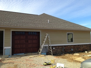 Garage side siding finished