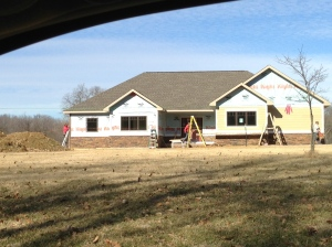 Front siding going up fast