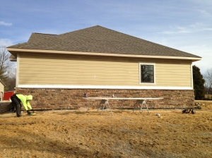 West side of the house installed