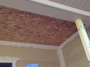mdf on porch ceiling