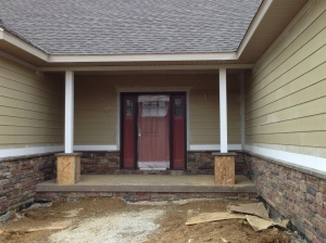 Columns on the front porch