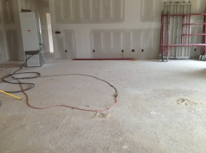 Lots and lots of drywall dust