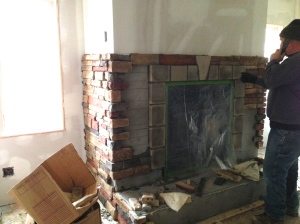 Fireplace almost stoned