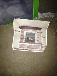 Digitally designed fireplace