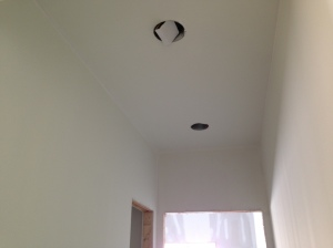 Hall ceiling painted