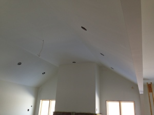 Family Room ceiling painted
