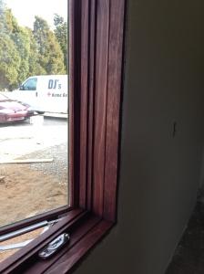 Window interior (pine) stained