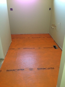 Underlayment in master bathroom