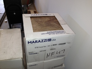 Marazzie ceramic tile for bathroom floors and master bath shower