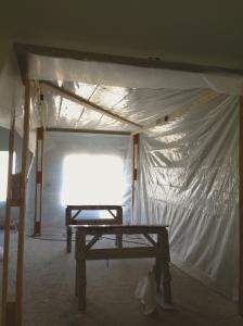 spraying booth