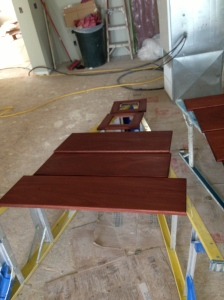 More mahogany drawer fronts and cabinet doors which will have glass in them