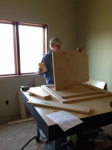 Bill assembling cabinets
