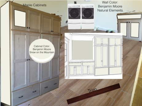 Playing with color for the laundry/pantry cabinets