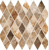 Diamond shaped decorative accent tile