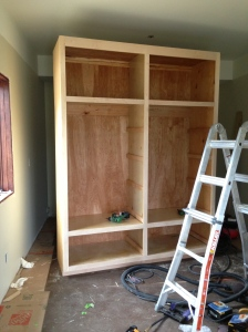 Finishing up the pantry cabinet
