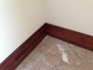 Mitered baseboard corners