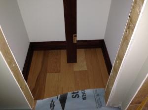Linen closet baseboards