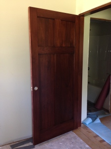 First door installed