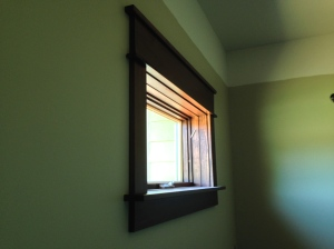 Sample of window trim and sill