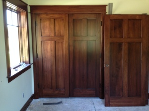 Double closet doors in one of the bedrooms (garage entry door still to be installed)