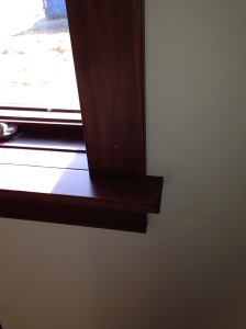 Close-up of window sills